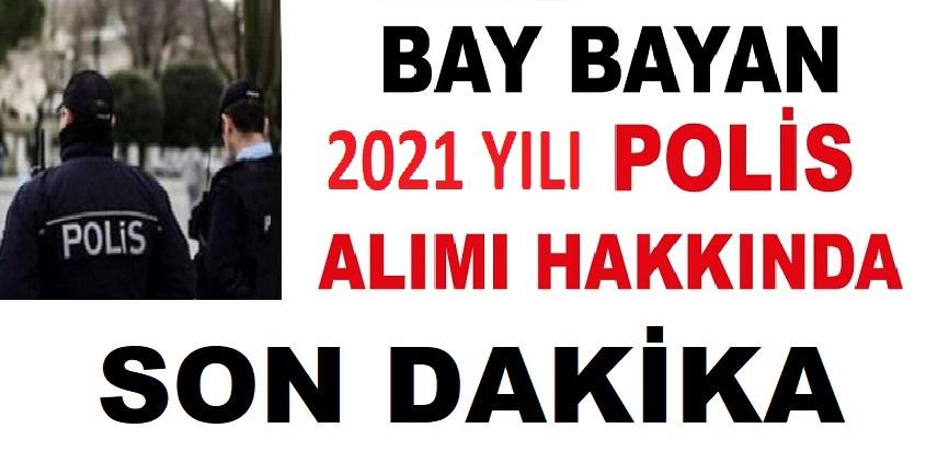2021 YILI POLİS ALIMLARI POMEM PMYO