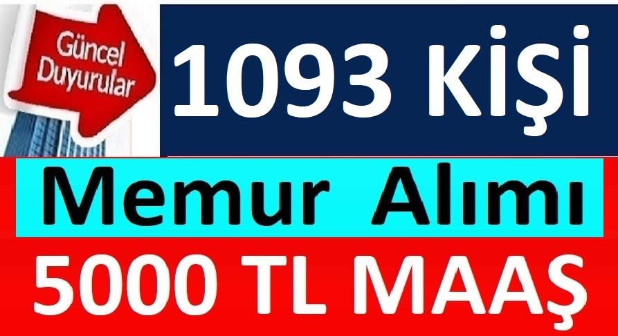 Kamuya 2828 sayılı kanun kapsamında 1093 Memur Alımı Yapılacaktır