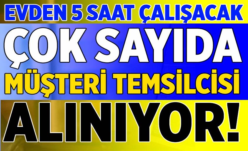 Türk Telekom Günde 5 saat Evde Çalışabilecek Personel Alım