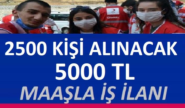 Kızılay Kurumu 2 bin 500 personel alacaktır