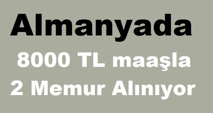 Yurtdışı 8000 TL maaşla Memur Alınıyor