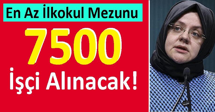 İŞKUR En Az İlkokul Mezunu 7500 İşçi Alınacak