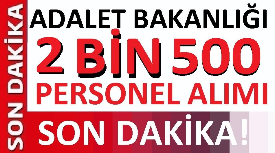 Adalet Bakanlığı En az 2 bin 500 katip alımı