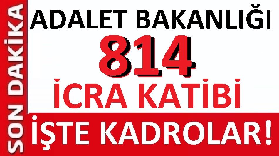 icra katibi pozisyonlarina 814 sozlesmeli personel alinacak