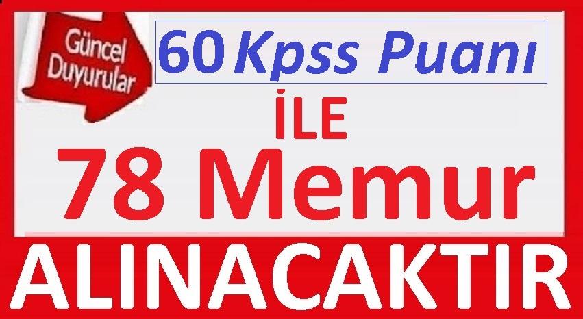 Belediye 60 KPSS Puanı ile 78 Memur Alımı 5 BİN TL MAAŞ