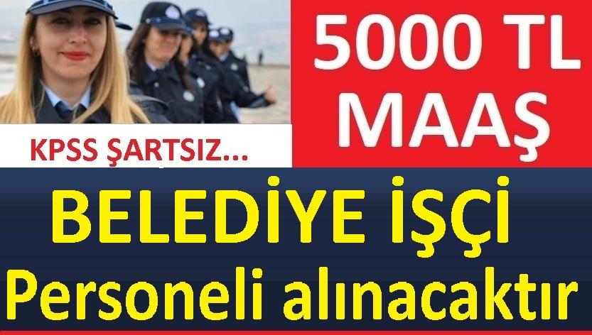 Tunceli Mazgirt Belediyesi işçi alacak.