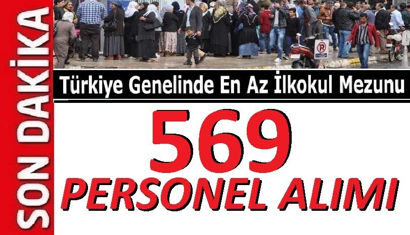 68 Devlet kurumuna 569 Personel memur ve işçiler alınacaktır