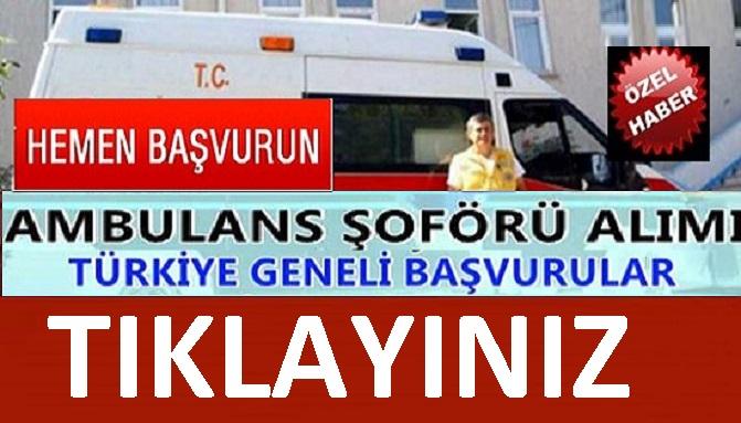 İl Sağlık Müdürlüğü TYP kapsamında 50 kamu şoför alımı yapacak.