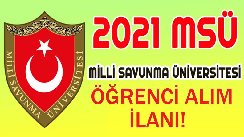 Flaş! MSÜ 2021-2022 lisansüstü öğrenci alım ilanı