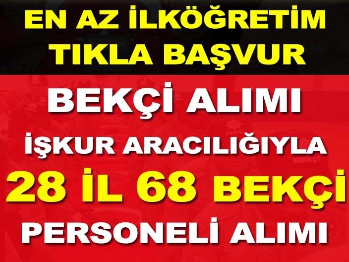Türkiye İş Kurumu (İŞKUR) bekçi alımı için yeni iş ilanları yayınladı