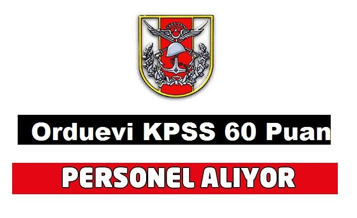 Ordu Evi Müdürlüğü 2 Garson Servis taşeron işçi ilanı