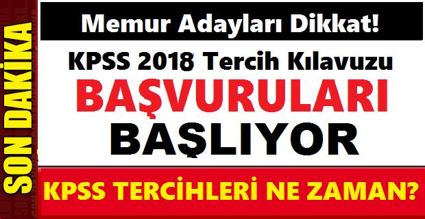 2018 Aralık KPSS Merkezi Memur Alım Kılavuzu