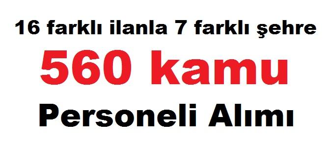 14 farklı ilanla ve 7 farklı şehre KPSS olmadan 540 kamu personeli alımı