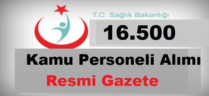 Sağlık Bakanlığı 16.500 Personel Alımı Resmi Gazetede