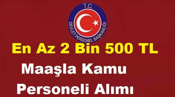 Devlet Personel Başkanlığı 2500 TL Maaşla Devlet Memuru Alımı