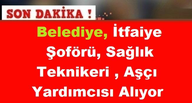 Burdur Bucak Belediyesi İtfaiye Şoförü, Sağlık Teknikeri ve Aşçı Yardımcısı Alımı yapacak