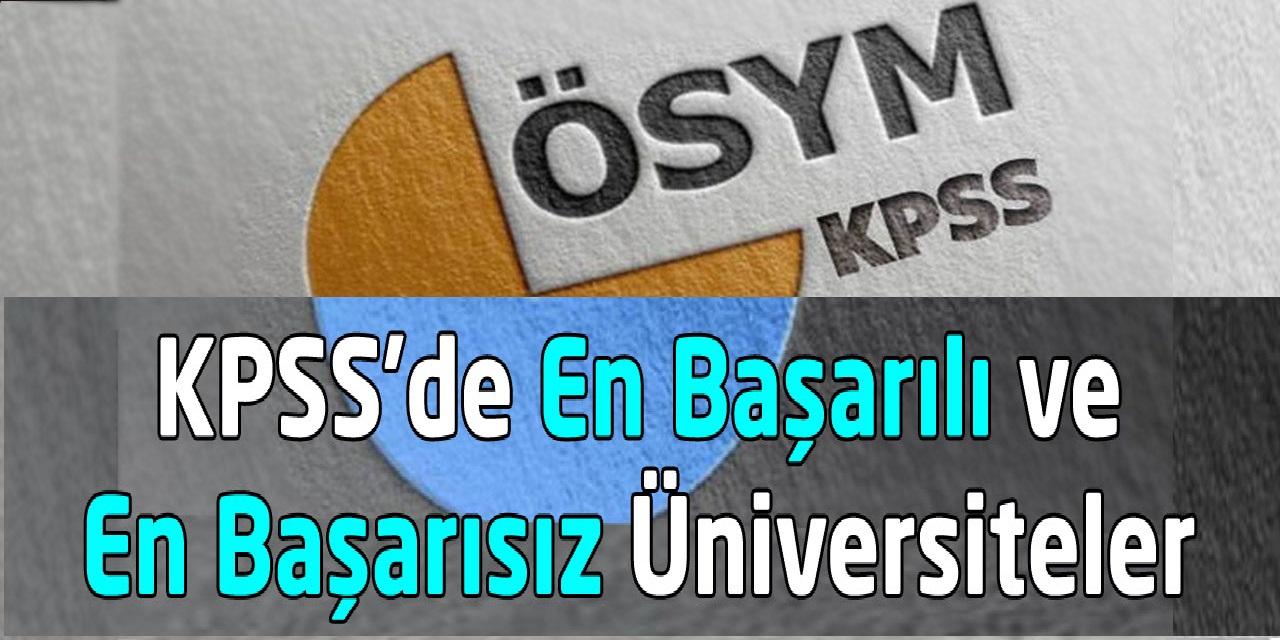 KPSS'de En Başarılı Üniversiteler 2019