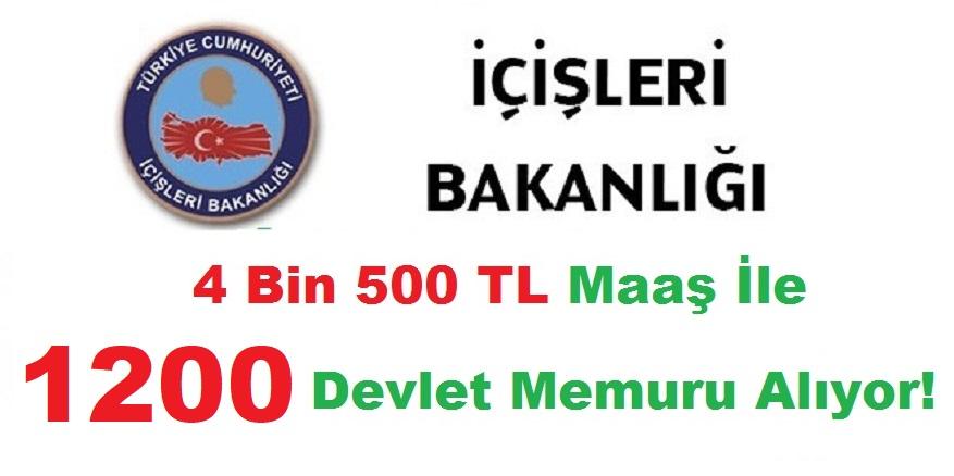 İçişleri Bakanlığı 81 ile 1200 Kamu Personeli Alımı Başvuru yapacaklara Uyarı