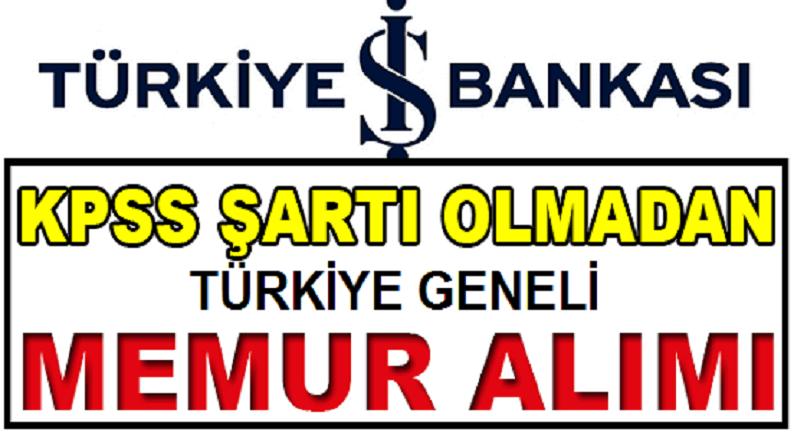 İş Bankası Uzman Yardımcısı alımı 2019 - Banka Personeli Alımları 2019