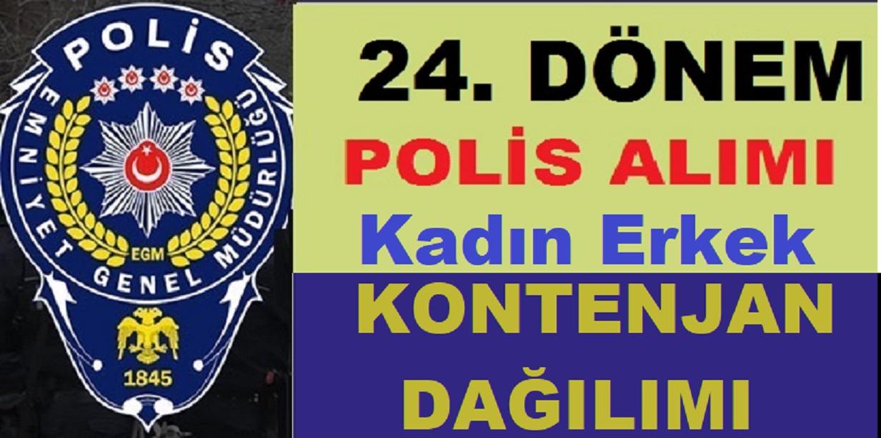 15 Bin Polis Alımı Kadın Erkek Kontenjan Dağılımı