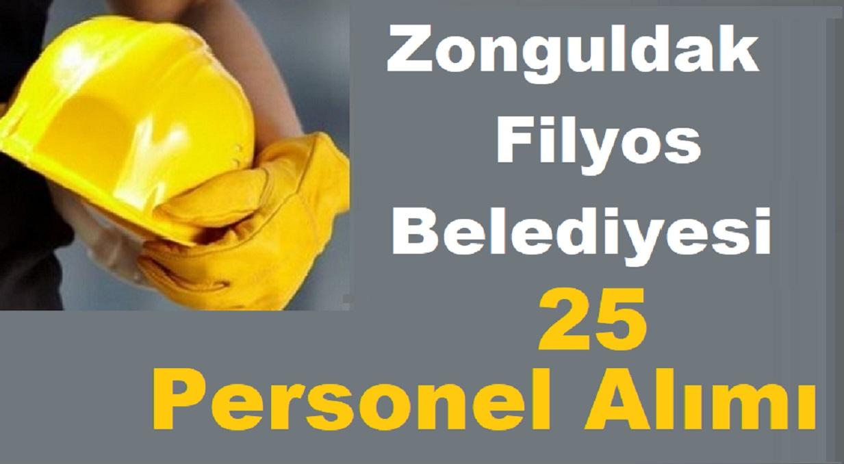 Zonguldak Filyos Belediyesi 25 Belediye işçi Personel Alımı