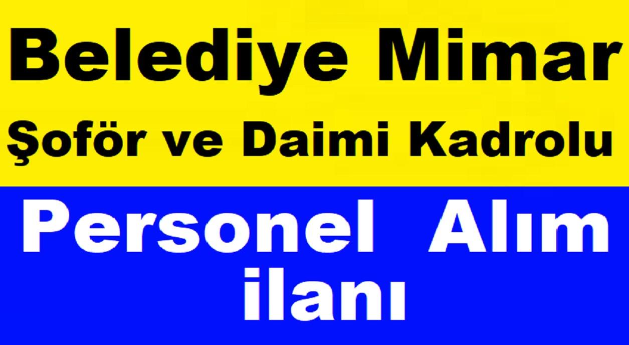 Eskişehir Belediyesi Mimar ,Şoför ve Daimi Beden İşçisi Alım ilanı