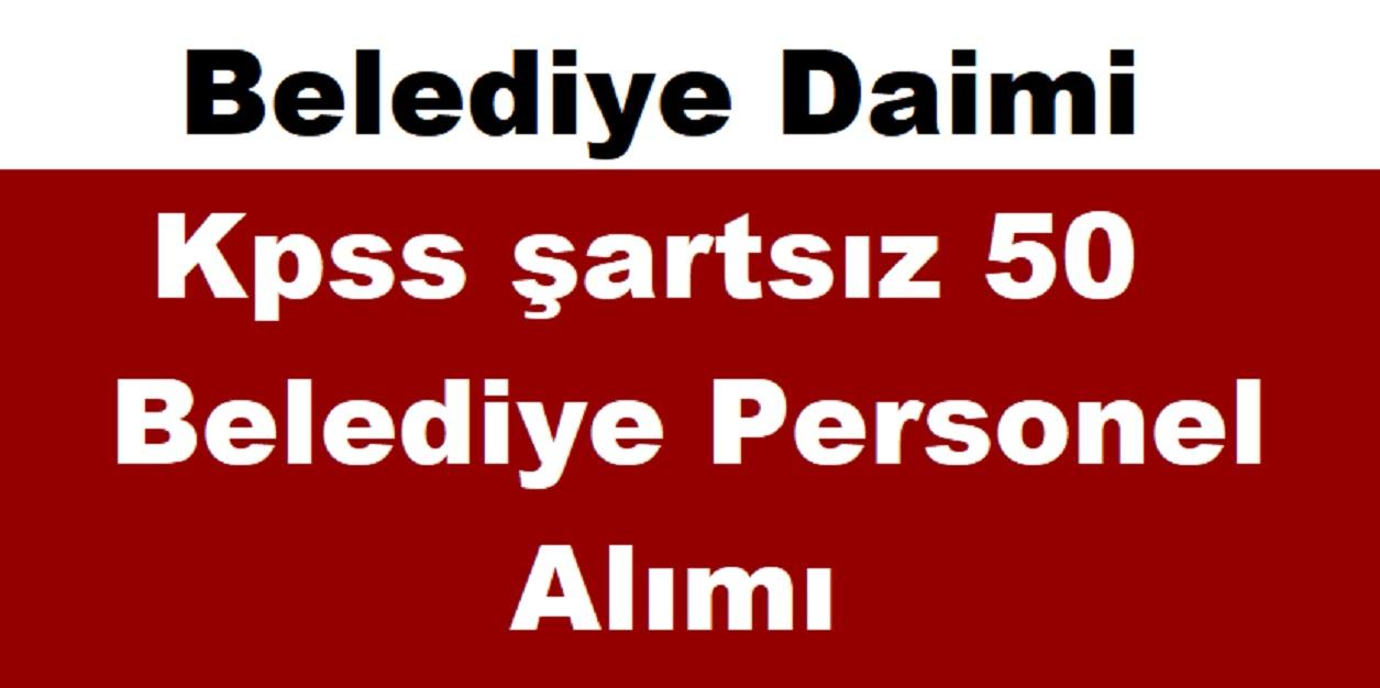 Zonguldak Kilimli Belediyesi Daimi 50 Kamu İşçisi Alacak