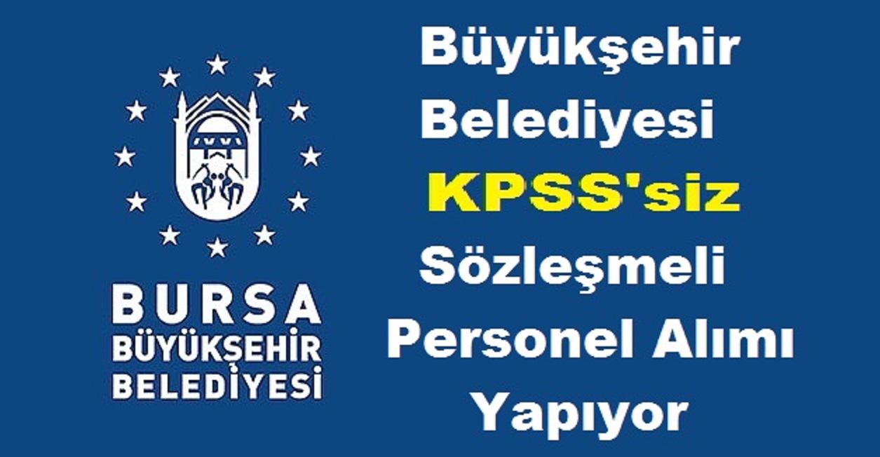 Bursa Belediyesi 20 Belediye Personel alımı