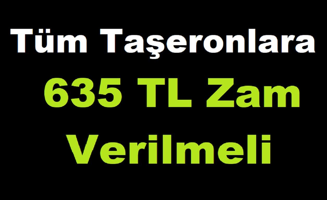 Taşeronlara 635 TL Zam