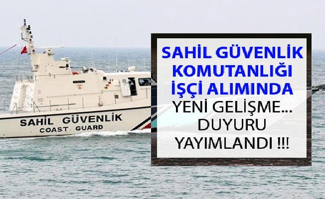 Sahil Güvenlik Komutanlığı Engelli İşçi Alımı Sonuçları 2019