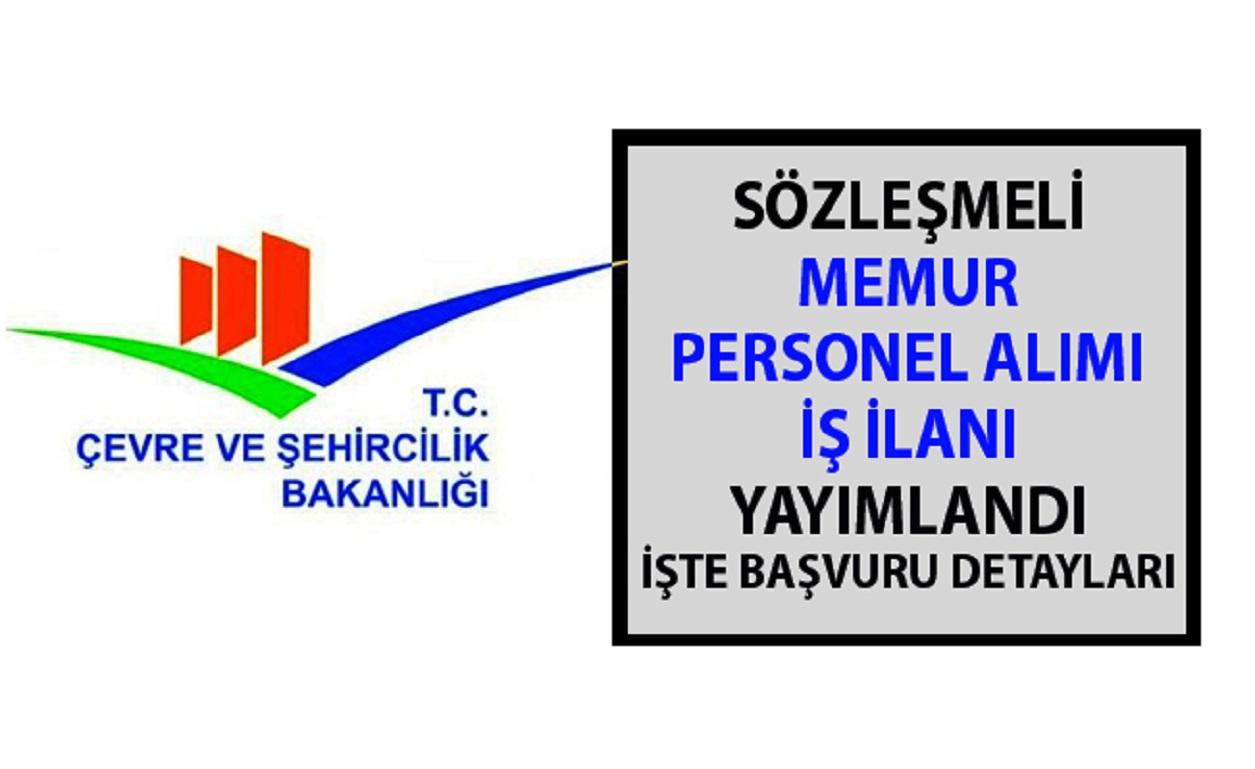 Çevre ve Şehircilik Bakanlığı Yeni Memur Personel Alımı