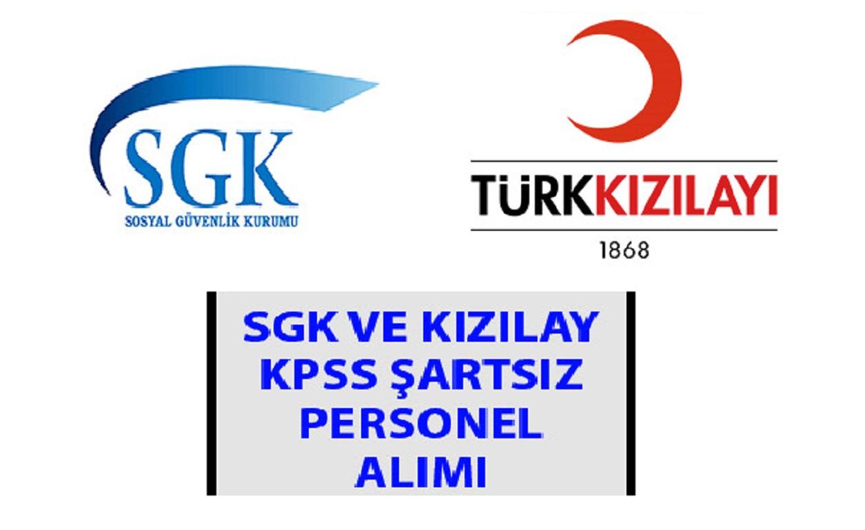 SGK ve Kızılay 2019 Kamu Personel Alımları- Devlet Memuru Alımları