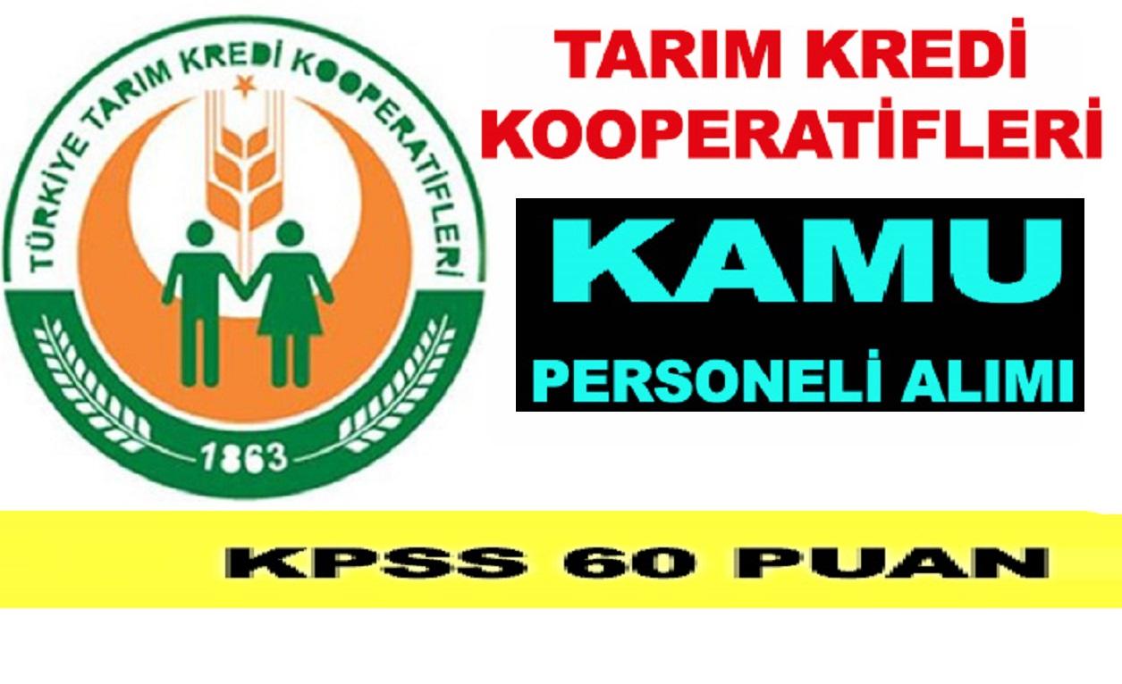 KPSS 60 Puanla Gaziantep ve Tekirdağ Kooperatif Görevlisi , Ziraat Mühendisi Kamu Personeli Alımı