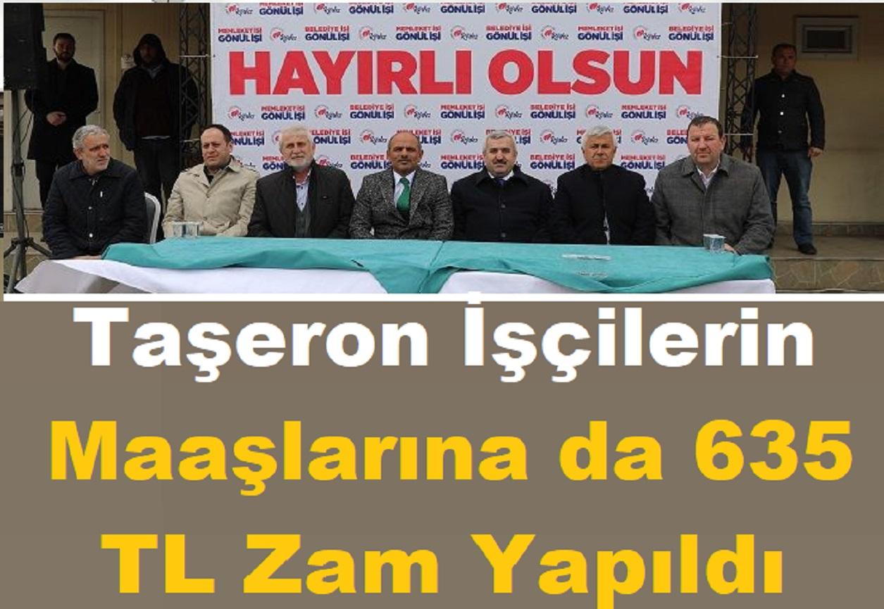 Körfez Belediyesi Taşeronlarına 635 tl Zam