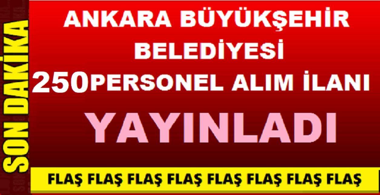 Ankara Belediyesi 250 Kamu Personeli Alımı Yapıyor- Ankara İş İlanları 2019