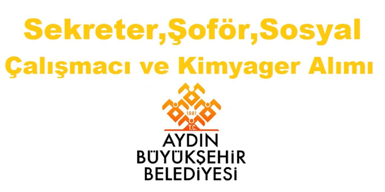 Büyükşehir Belediyesi Sekreter,Şoför,Sosyal Çalışmacı ve Kimyager Alımı