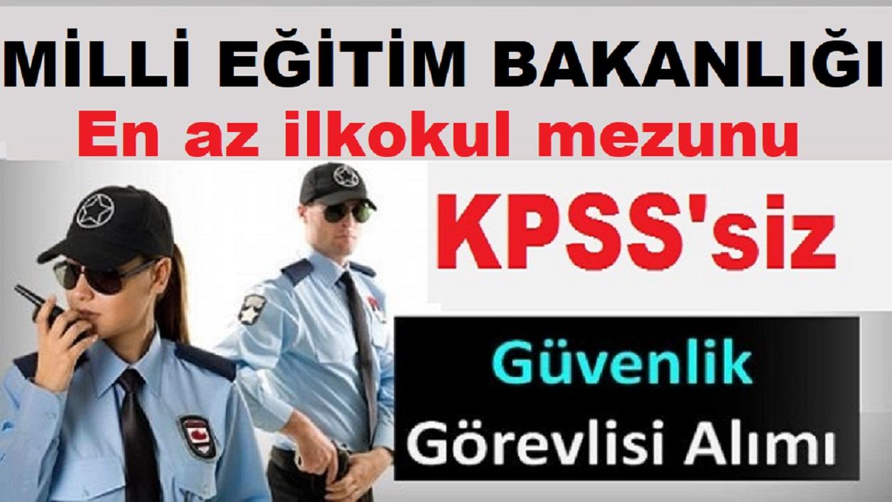 İstanbul MEB Güvenlik Görevlisi Alımı - İşkur iş İlanları 2019