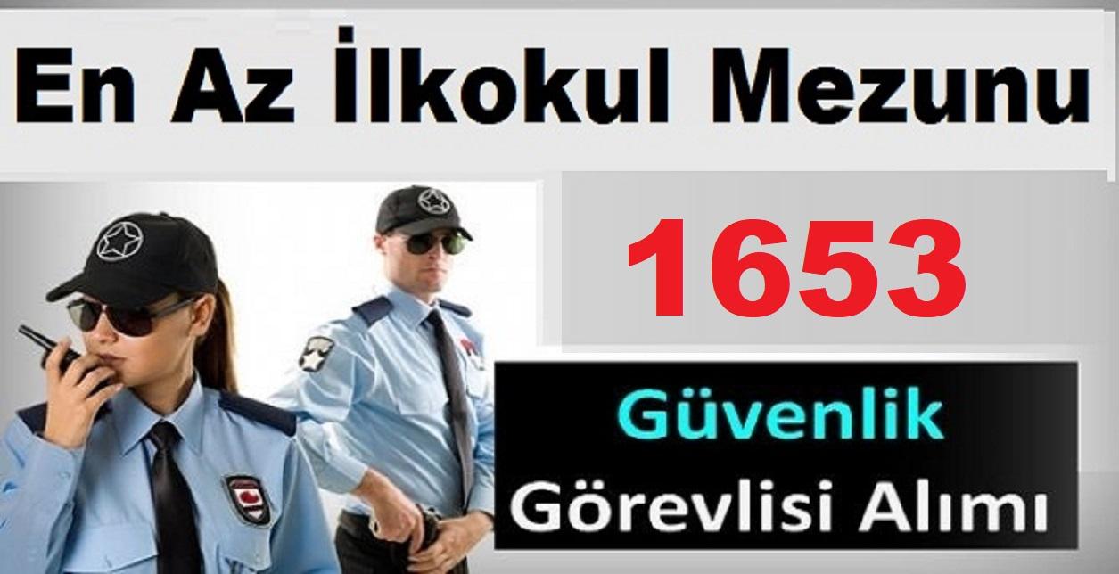 İŞKUR üzerinde 1653 Güvenlik Personeli Alımı