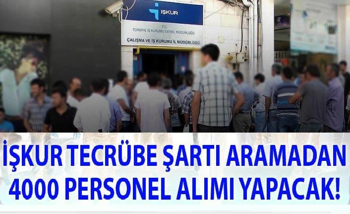 Türkiye İş Kurumu  4000 adet personel alımı