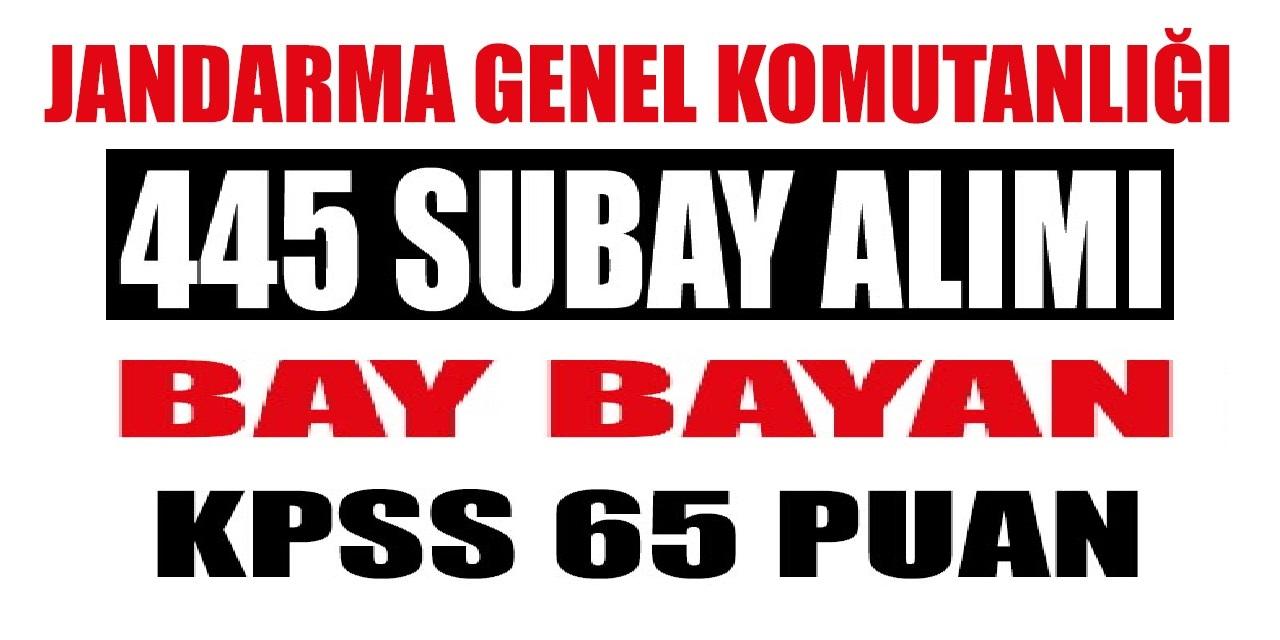 455 Subay Alımı Bay Bayan - Askeri Personel alımları