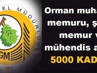 OGM KPSS ile 5 Bin Orman mühendisi, Muhafaza memuru personel alımı yapacak