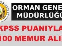 Orman Genel Müdürlüğü KPSS puanına göre 1100 Şoför ve Memur Alımı