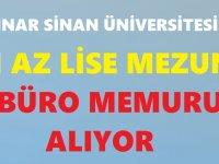 Güzel Sanatlar Üniversitesi Enaz İlkokul mezunu 65 Kamu Personeli Alımı