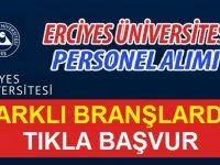 Erciyes Üniversitesi Hastanesi Personel Alımı 2020