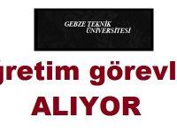Gebze Teknik Üniversitesi Öğretim Üyesi Alıyor 2 Ekim 2018