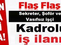 Karabiga Belediyesi 14 beden işçisi , tekniker, kasiyer , şoför ,temizlikçi alıyor