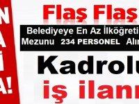 Türkiye Geneli Üç Belediye 234 Belediye Personel Alımı