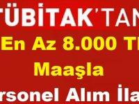 Tübitak 8 Bin TL Maaşla Kamu Personeli Alımı Yapıyor