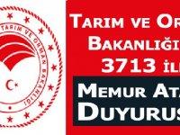 3713 İle Memur Atama Duyurusu - Tarım ve Orman Bakanlığı