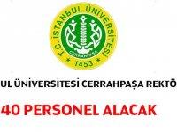 Cerrahpaşa Üniversitesi KPSS 50 Puanla 40 Kamu Personeli Alımı